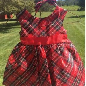 TARTAN PLAID DRESSES & HEADBAND w/ BOW